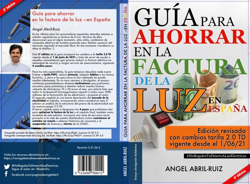 Portada - Guía para reducir la factura de la luz —en España (2ª edición) - Maqueta 26 de junio 2021